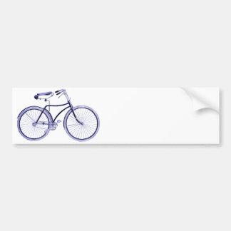 Blue Bike Bumper Sticker