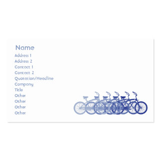 Blue Bike - Business Business Card Templates