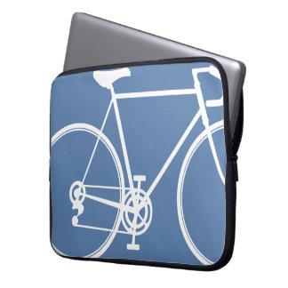 Blue bike design Laptop Sleeve