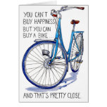 Blue Bike Happiness card
