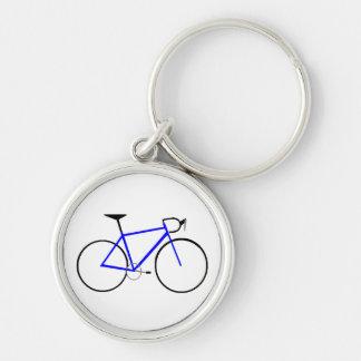 Blue Bike Key Chain