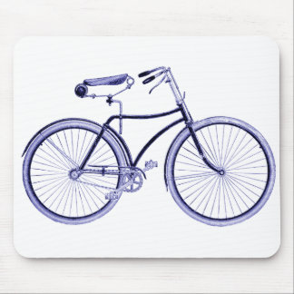 Blue Bike Mouse Pad