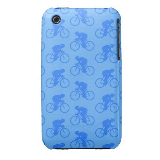 Blue Bike Pattern. iPhone 3 Covers