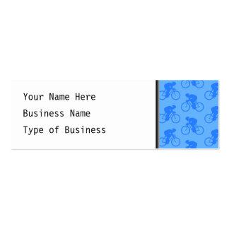 Blue Bike Pattern. Mini Business Card