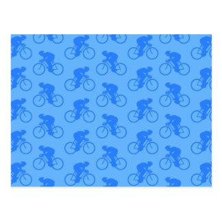 Blue Bike Pattern. Postcard