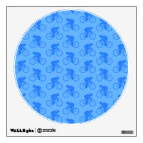 Blue Bike Pattern. Wall Decal