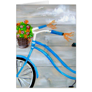 Blue Bike Zazzle Card