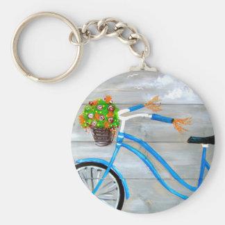 Blue Bike Zazzle Keychain