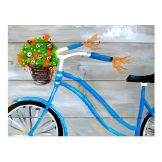 Blue Bike Zazzle Postcard