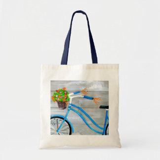 Blue Bike Zazzle Tote Bag