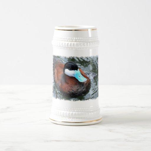 Blue Billed Duck Beer Steins Mugs