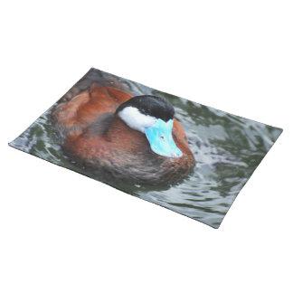 Blue Billed Duck Placemat Cloth Place Mat