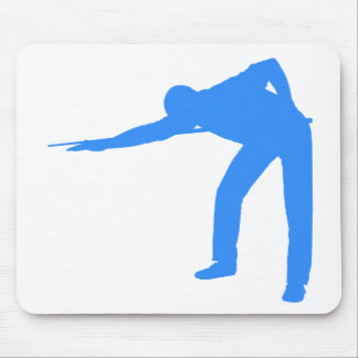 Blue Billiards Player Mouse Pad