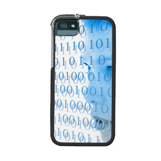 Blue Binary Girl iPhone 5/5S Cases