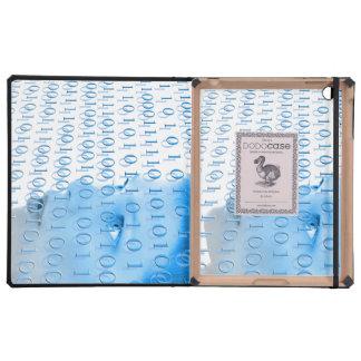Blue Binary Girl iPad Folio Cases