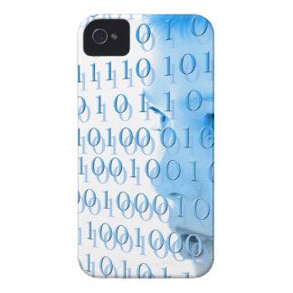 Blue Binary Girl Case-Mate iPhone 4 Case