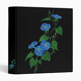 Blue Bindweed Vinyl Binders