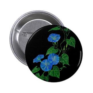 Blue Bindweed Pinback Button