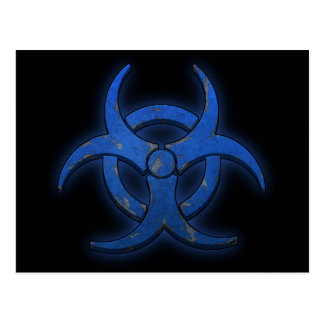 Blue Biohazard Postcard