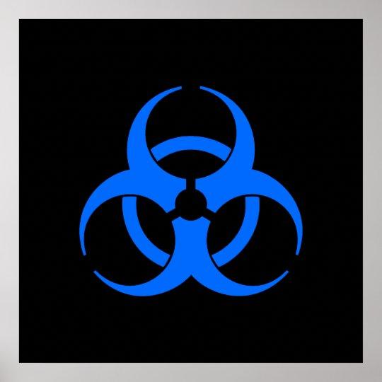 Blue Biohazard Symbol Poster Zazzle