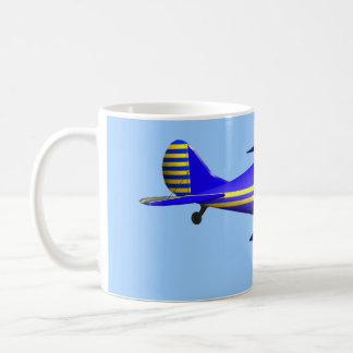 Blue Biplane Classic White Coffee Mug