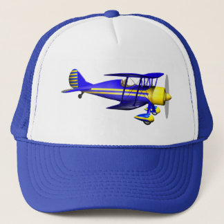 Blue Biplane Trucker Hat