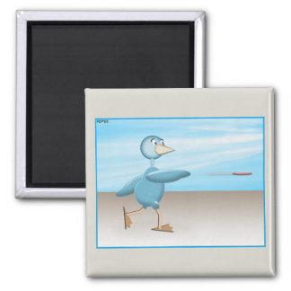 Blue Bird 2 Inch Square Magnet