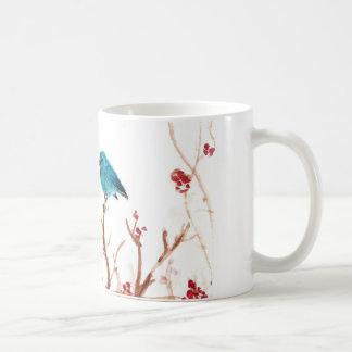 Blue Bird and Berries Coffee Mug