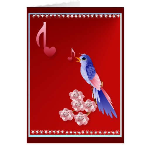 Blue Bird and Love Notes Card