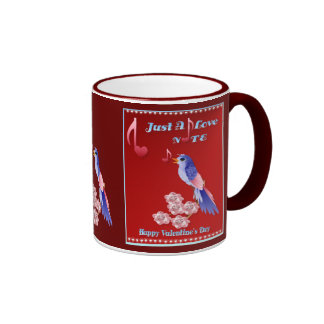 Blue Bird and Love Notes-lettered Mugs