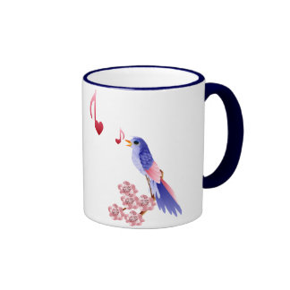 Blue Bird and Love Notes Mugs