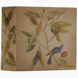 Blue Bird ~ Binder Floral Nature Vintage Love