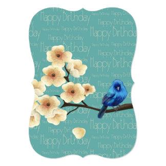 Blue Bird Birthday Tag Card