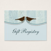 blue bird cage, love birds Gift registry  Cards