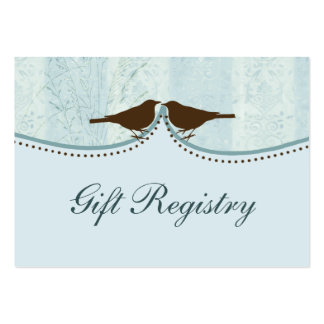 blue bird cage, love birds Gift registry  Cards Large Business Cards (Pack Of 100)