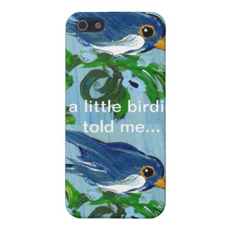 Blue bird cases for iPhone 5