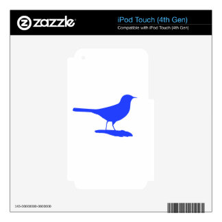 Blue Bird Decals For iPod Touch 4G