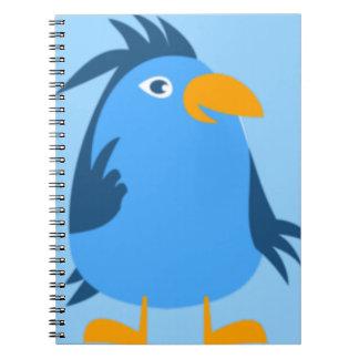 Blue Bird Face Spiral Notebook
