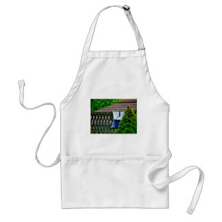 Blue Bird Feeder in Backyard Standard Apron