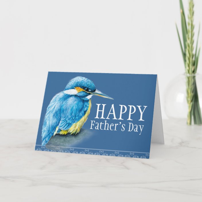 With Love To A Special Dad Kingfisher Christmas Card
