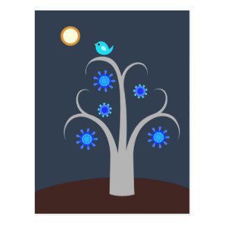 Blue Bird, Full Moon postcard