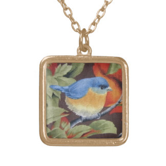 Blue Bird Gold Plated Necklace