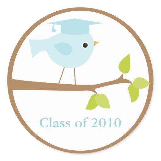 Blue Bird Graduation Envelope Seals