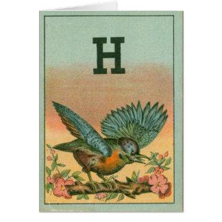 Blue Bird H Card