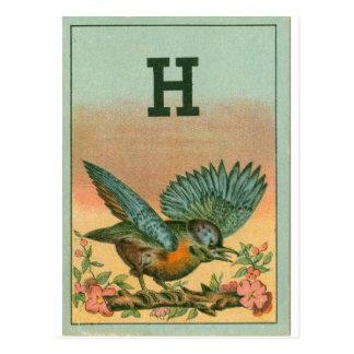 Blue Bird H Post Cards