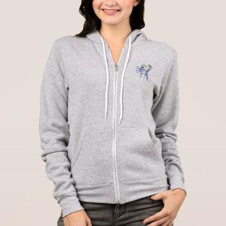 Blue bird hoodie
