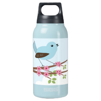 Blue Bird in Blossom Tree Insulated Water Bottle