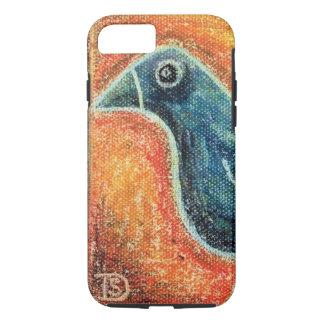 Blue Bird in Oil Pastel iPhone 7 Case