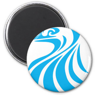 Blue Bird in Swish Drawing Style Magnet