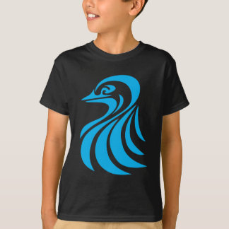 Blue Bird in Swish Drawing Style T-Shirt